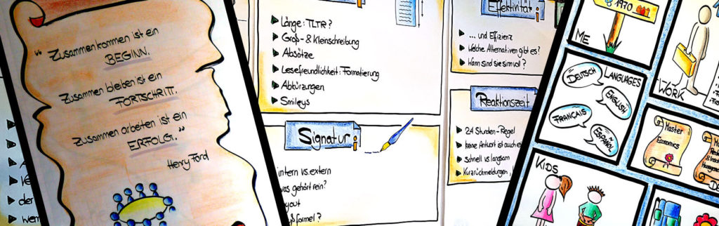 Visualisieren auf Pinnwand und Flipchart – Auffallend anders - Flipchartgestaltung