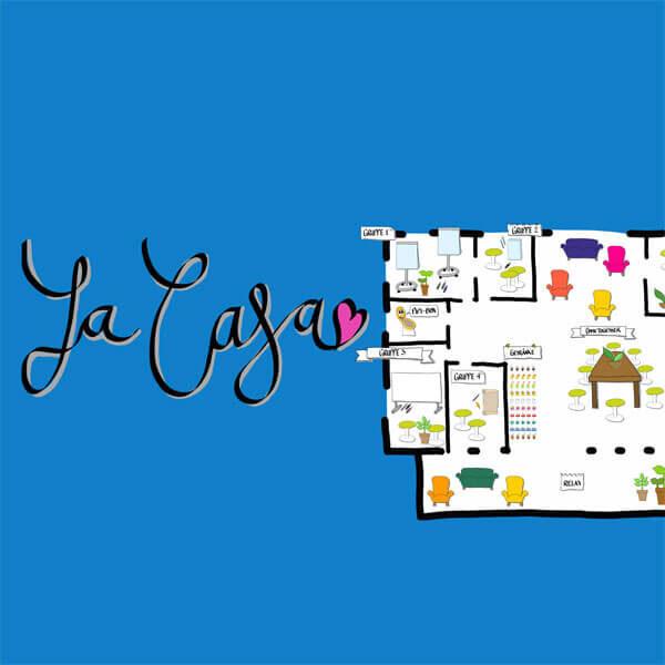 Ansicht eines Conceptboard-Designs zu einem Meeting