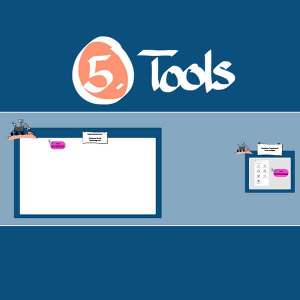 Detailansicht eines Conceptboard-Designs zu einem Workshop