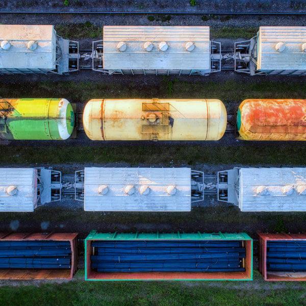 Güterwagen von oben
