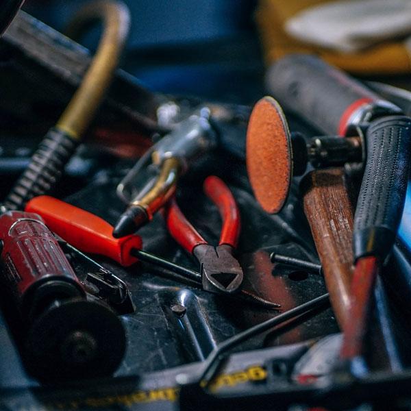 Werkzeug in einer Werkstatt