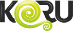 KORU-Logo schwarz groß
