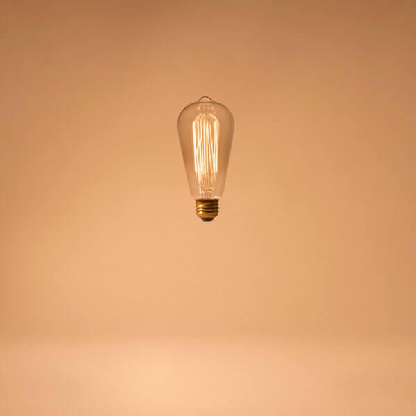 goldener Hintergrund, Edison, Glühbirne, Verständnis, Licht aufgehen